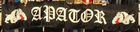 Flaga Apator z buldogami